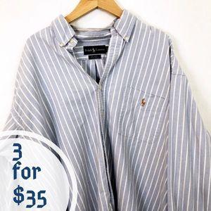 """Ralph Lauren """"Big Shirt"""" Striped Men's Career Top"""